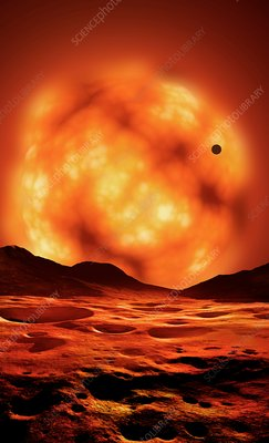 Artwork of Red Giant Sun, illustration