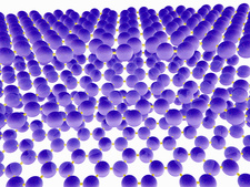 Molecular model of stacked layers of graphene