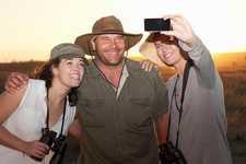 People photographing themselves on safari, South Africa