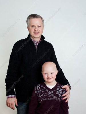 Father and son with Down's Syndrome, portrait