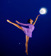 Ballerina reaching for the moon