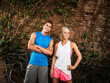 Young man and woman ready for exercise