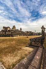 East gate temple in Angkor Wat, Siem Reap, Cambodia