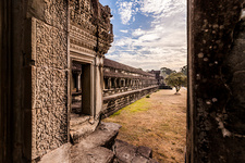 Temple courtyard in Angkor Wat, Siem Reap, Cambodia