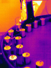 Thermal image of hot machined parts
