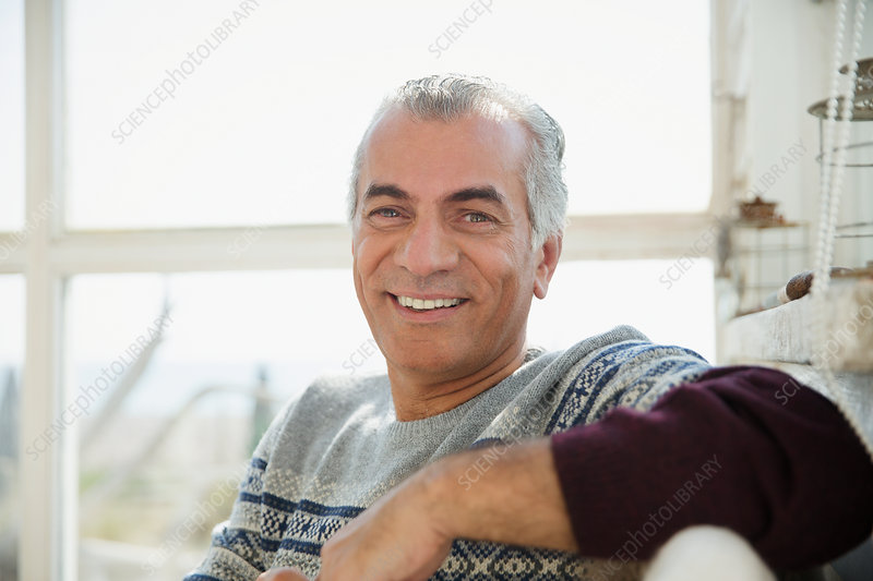 Portrait, confident senior man