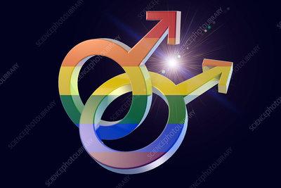 Male homosexuality symbol, illustration