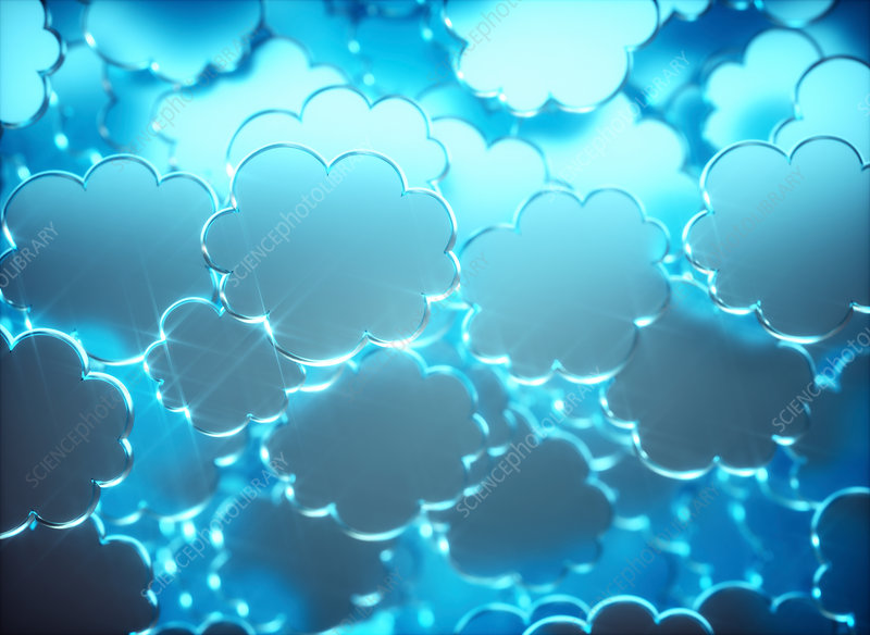 Blue clouds, illustration