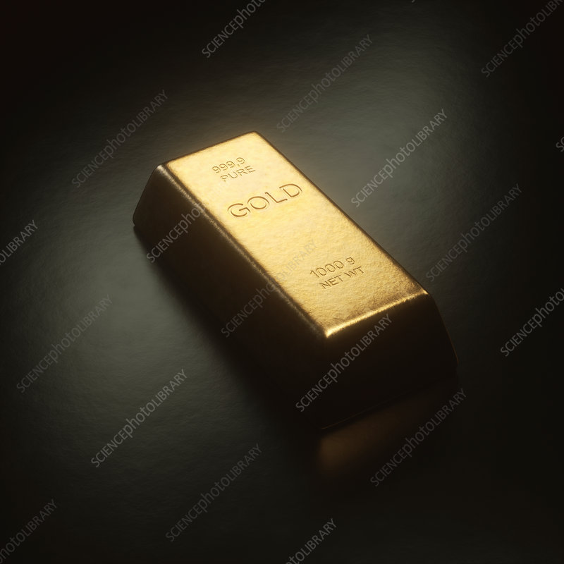 Gold bar, illustration