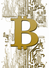 Bitcoin symbol, illustration