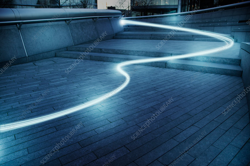 Fibre optic light trail communication technology