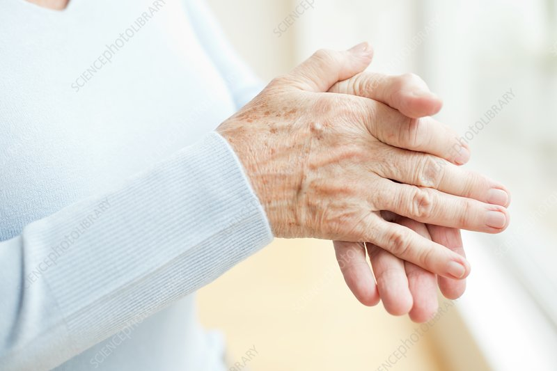 Senior woman's hands, close up