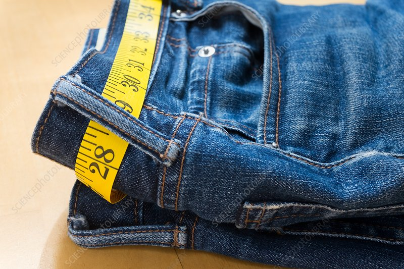 A pair of jeans and tape measure