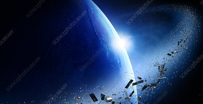Space junk, illustration