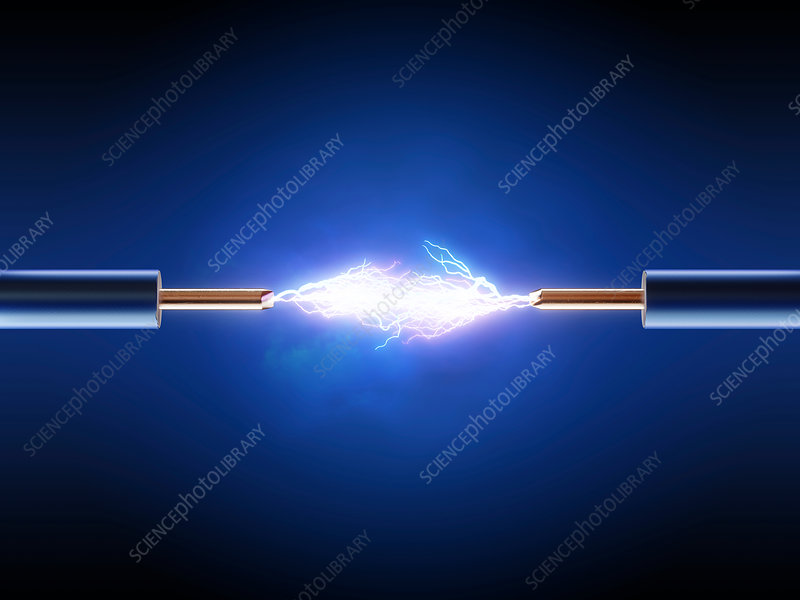Electrical spark between wire