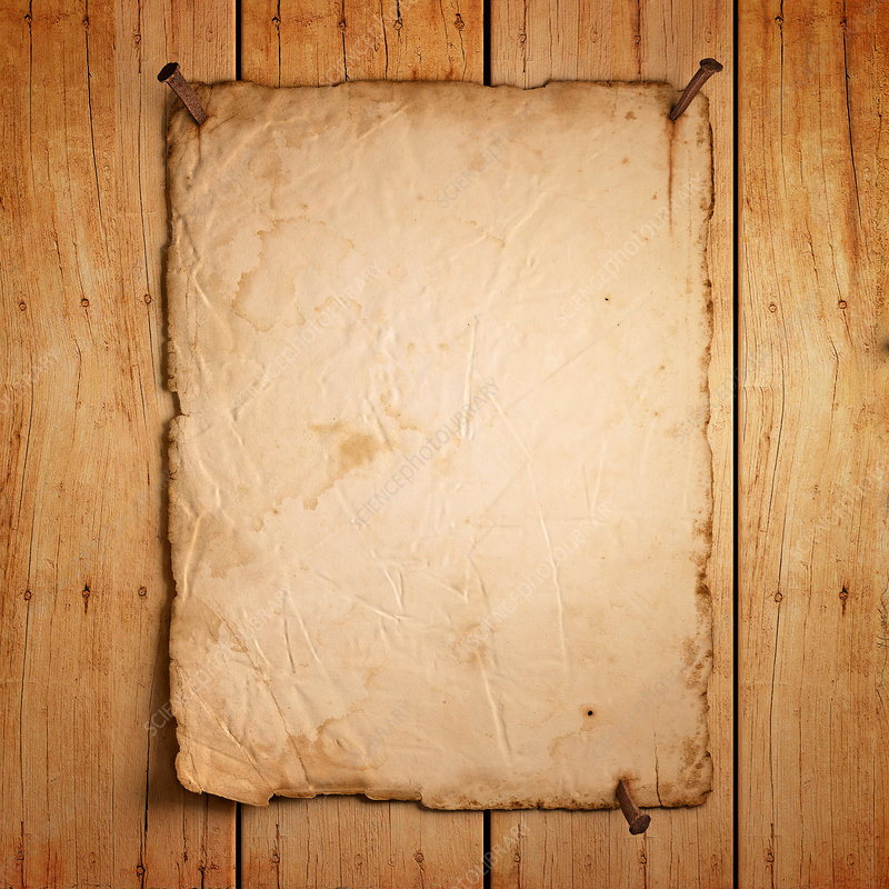 Blank paper on wooden boards