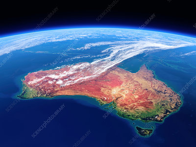 Australia seen from outer space