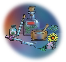 Aromatherapy products, illustration