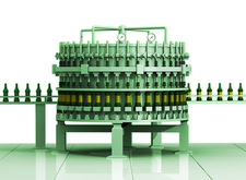 Bottling plant, illustration