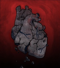 Conceptual illustration of broken human heart
