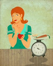 Conceptual illustration of dieting