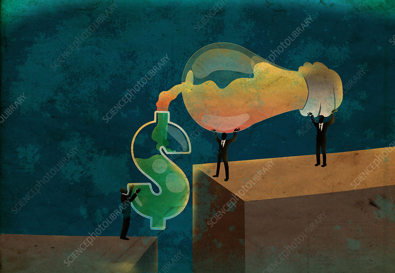 Conceptual illustration of money making