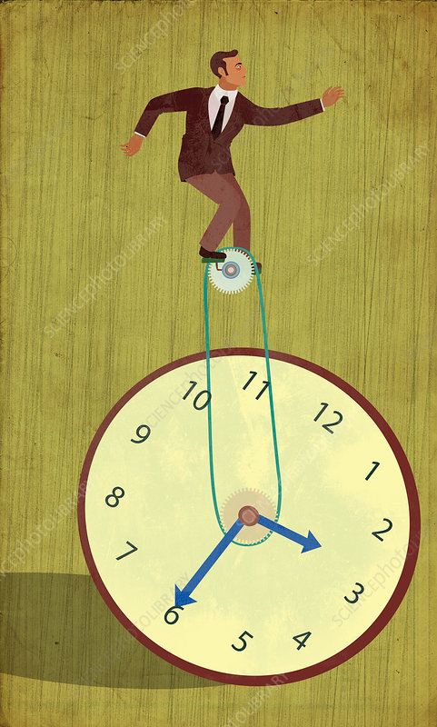 Conceptual illustration of time management