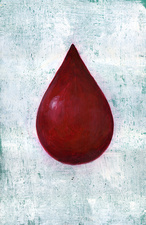 Illustration of blood drop