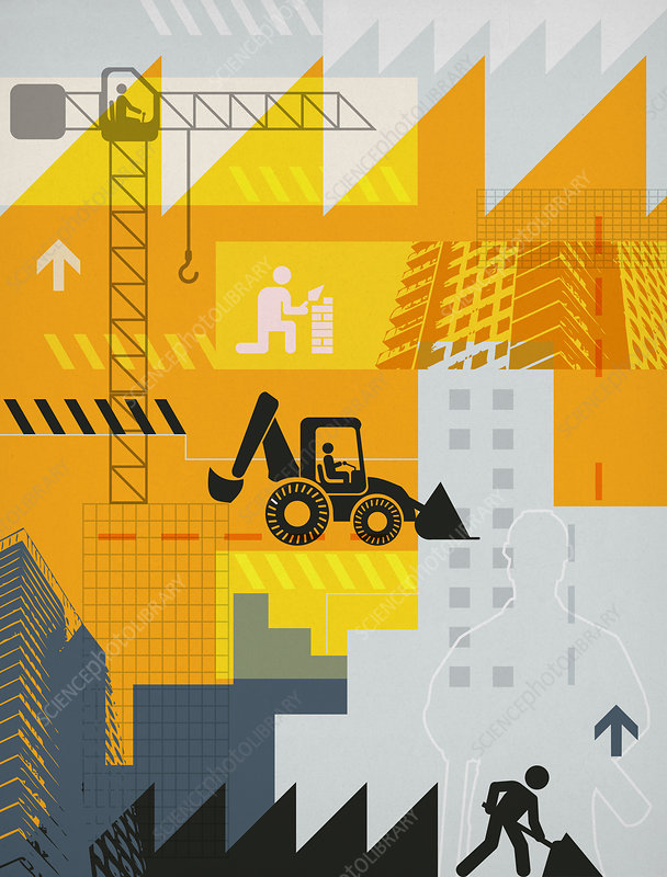 Illustration of construction industry