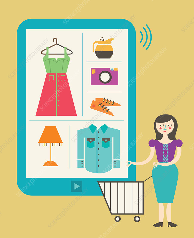 Illustration of online shopping