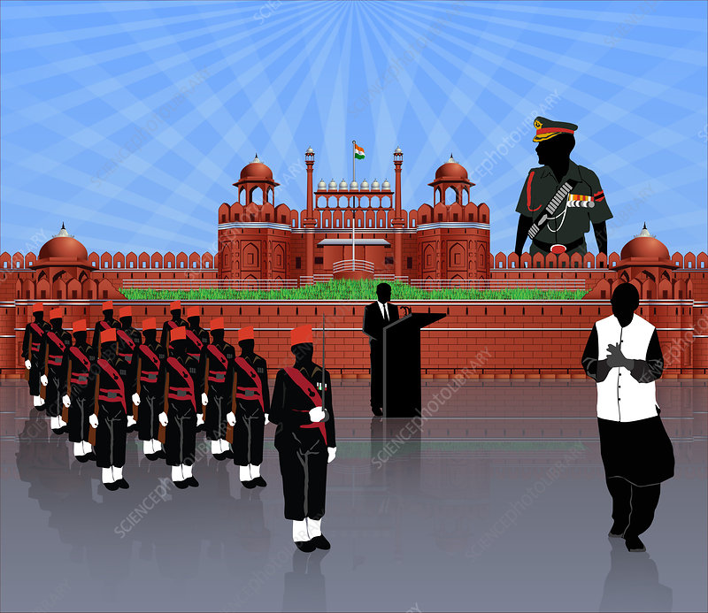 Independence day celebration India, illustration