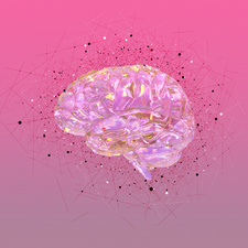 Atomic structure of the human brain, illustration