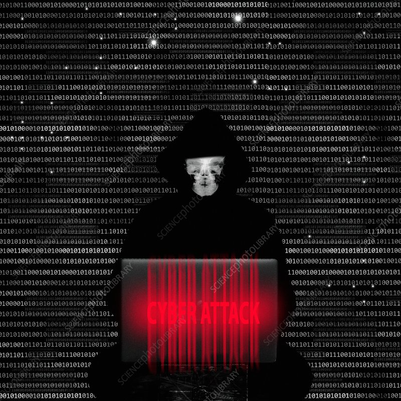 Cyber attack, illustration