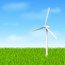 Wind turbine, illustration