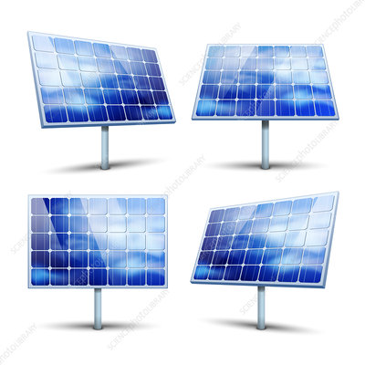 Solar panels, illustration