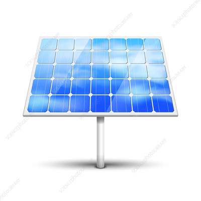 Solar panel, illustration