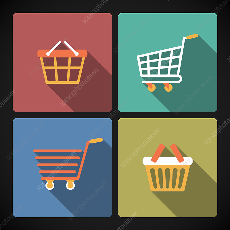 Shopping icons, illustration