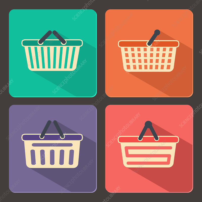 Shopping baskets, illustration