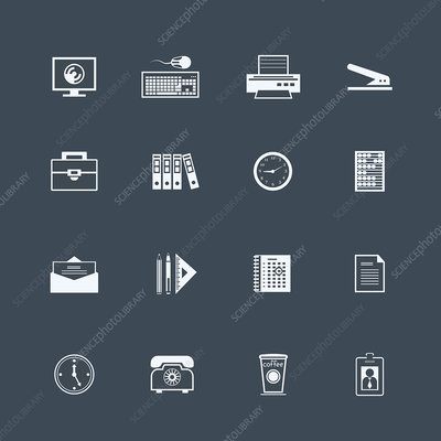 Business icons, illustration