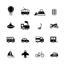 Transport icons, illustration