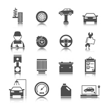 Car icons, illustration