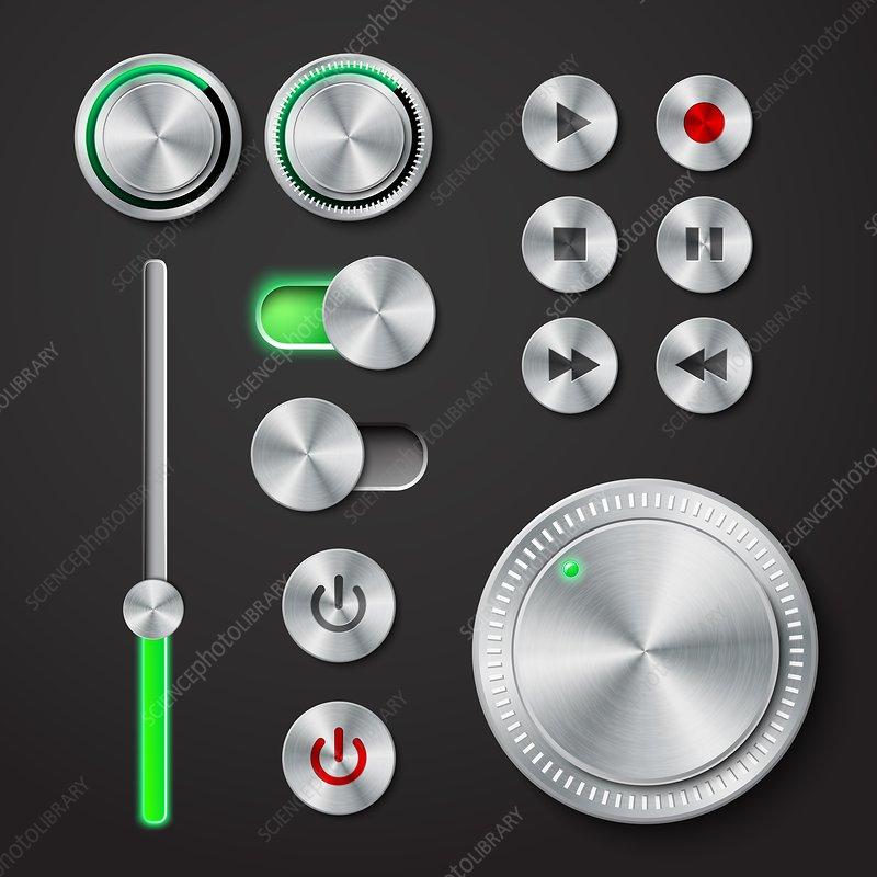 Playback control buttons, illustration