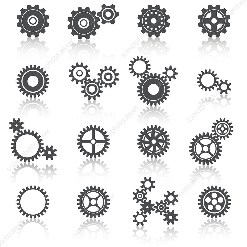 Cogs and gears, illustration