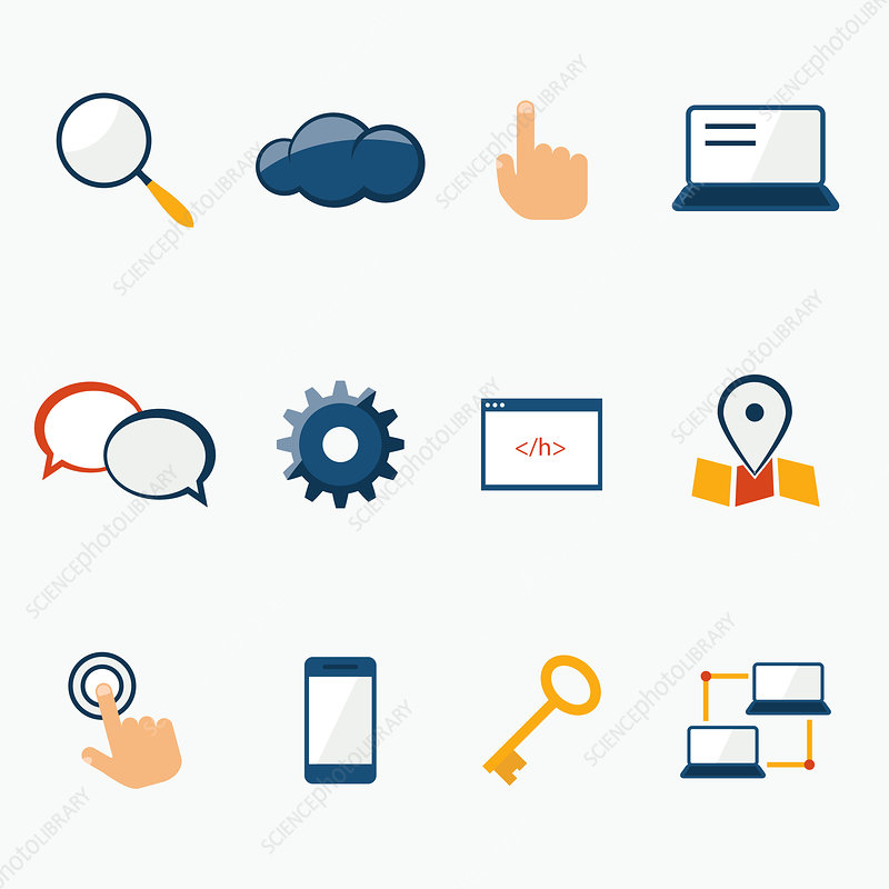 Website icons, illustration