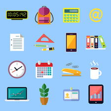Office icons, illustration