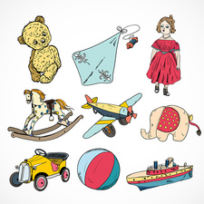 Children's toys, illustration