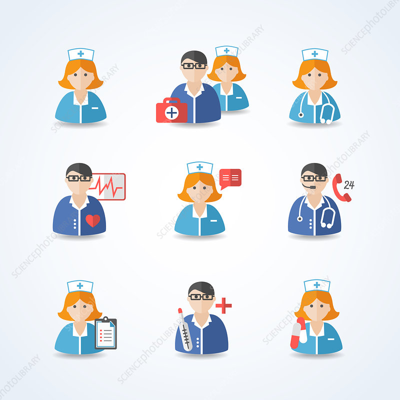 Healthcare professionals, illustration