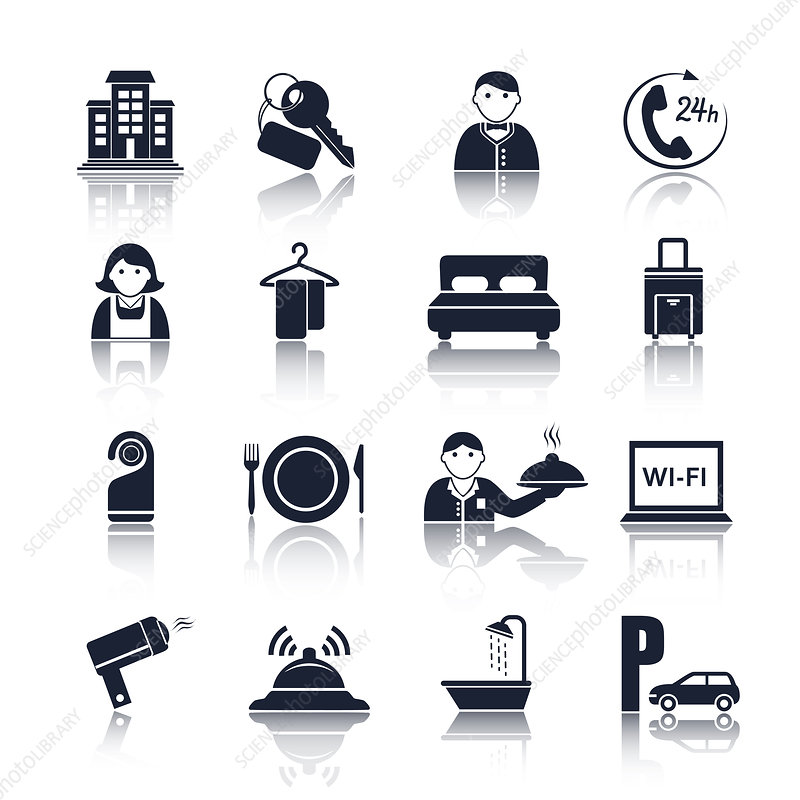 Hotel icons, illustration