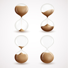 Hourglass timers, illustration