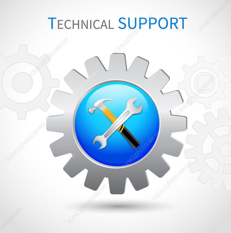 Technical support, illustration